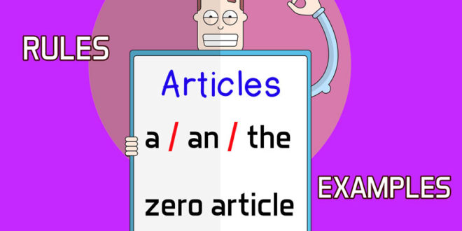 Articles in English a an the