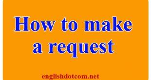 make a request