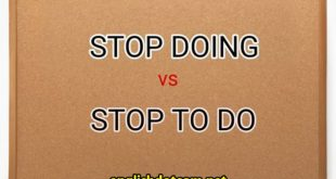 Stop doing vs stop to do