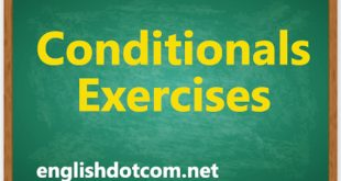 conditionals exercises