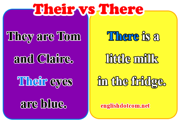 Their vs there