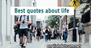 short quotes about life