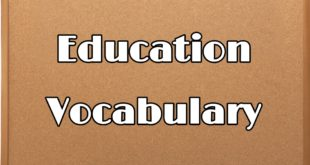 education vocabulary