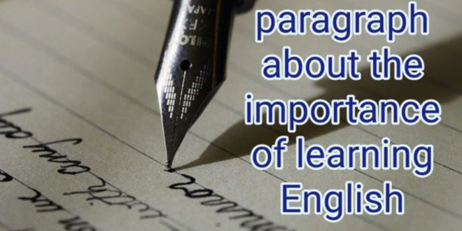 paragraph about learning English