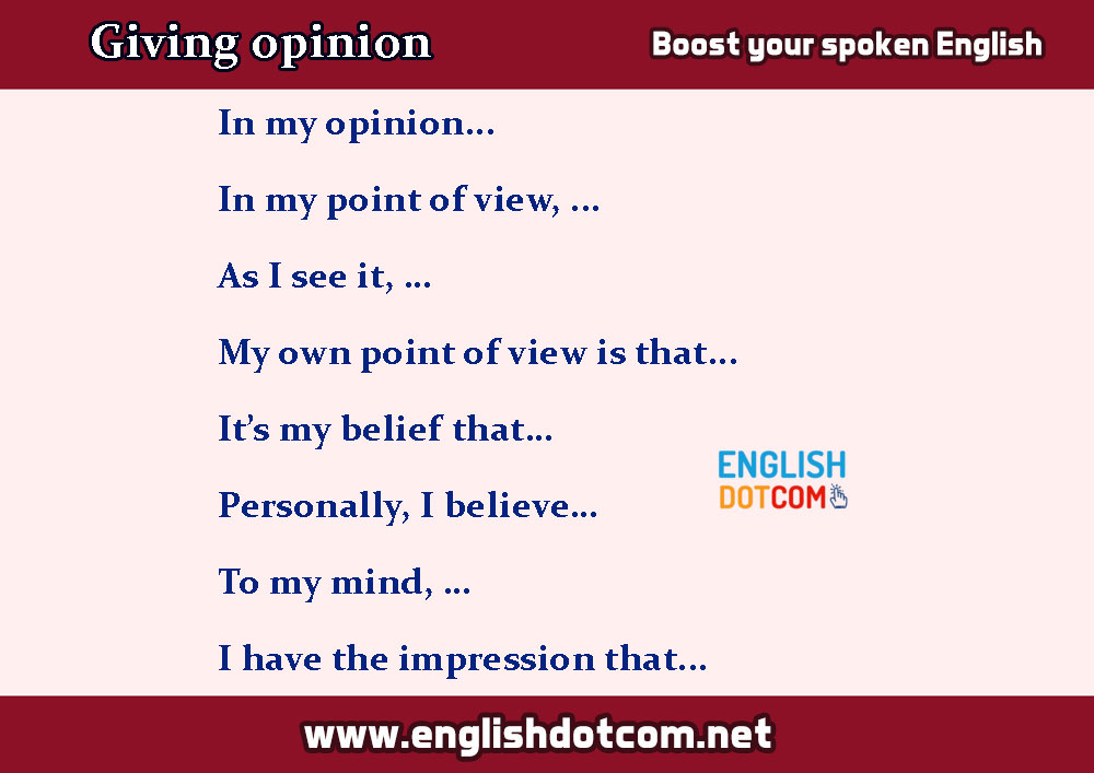 asking and giving opinion