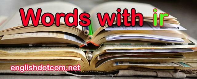 ir words
