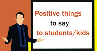 positive things to say to students