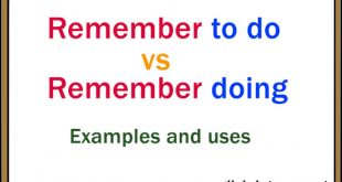 remember to do vs remember doing