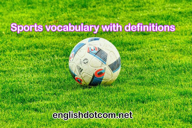 sports vocabulary with meaning