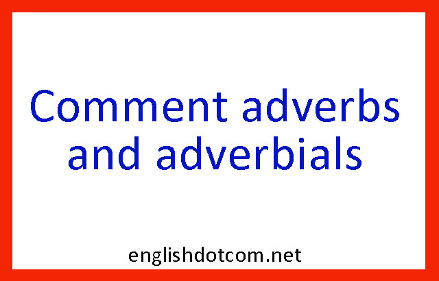 comment adverbs