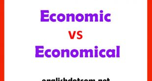 economic vs economical