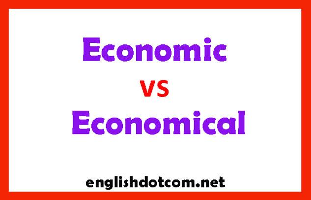 economic vs economical