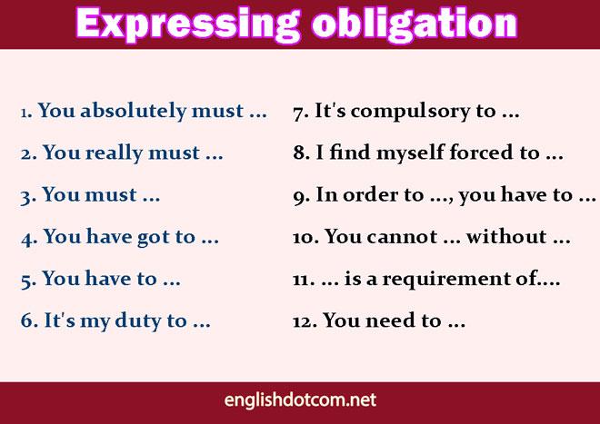 expressing obligation