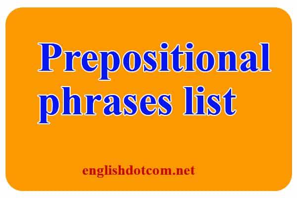 list of prepositional