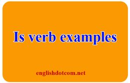 is is a verb