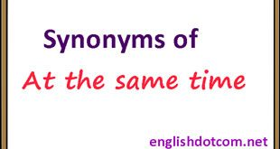 at the same time synonym