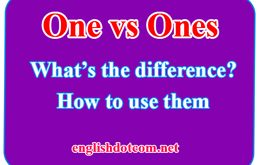 one and ones