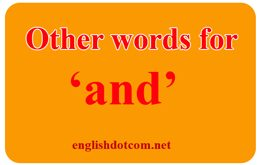 other words for and
