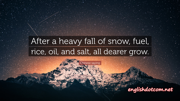 sayings about snow